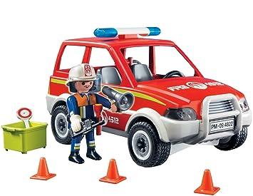 playmobil 4822 jeu jeu de construction voiture de pompier jeux pompier jeux et jouets. Black Bedroom Furniture Sets. Home Design Ideas