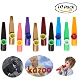 Kazoo - HoFire 10 Pcs Assorted Color Plastic Kazoos Musical Instruments Party Favors (Random 5 Colors)