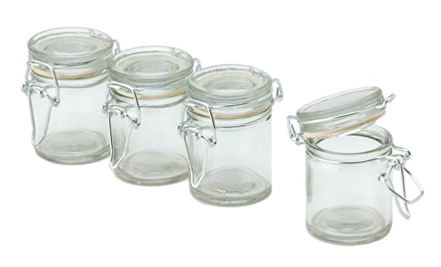 Darice David Tutera 4-Piece Glass Jar with Flip Lid Via Amazon