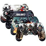 SubClap 4 Packs PS4 Controller Skin, Vinyl Decal Sticker Cover for Sony PlayStation 4 DualShock 4 Wireless Controller (Hero) (Color: Hero)
