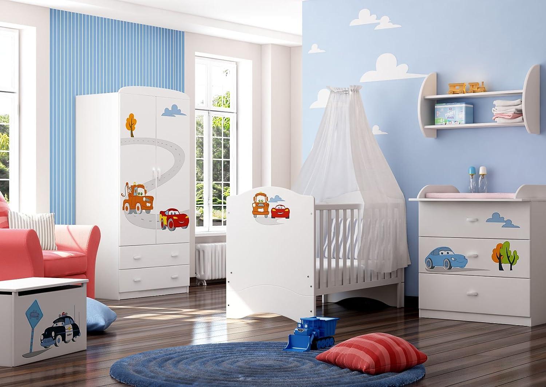 Schlafzimmer-Set Kindermöbel 'Cars 2' Jugendzimmer komplett Kinderzimmer