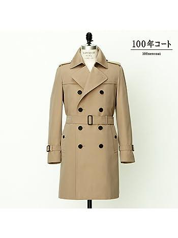 (サンヨー) SANYO < 100年コート > ダブル トレンチ