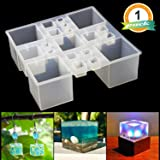 Square Resin Silicone Mold LET'S RESIN Resin Cube Molds, Silicone Molds for Resin, Epoxy Molds for Jewelry, Magic Cube, Paperweight, Specimen Making (Color: Cube Resin Mold)
