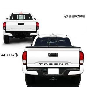 Matte Black 3D Logo Insert Emblem Decals Letters Compatible with 2016-2020 Tacoma Models Car concentration camp Tailgate Raised Letters Emblems for Tacoma