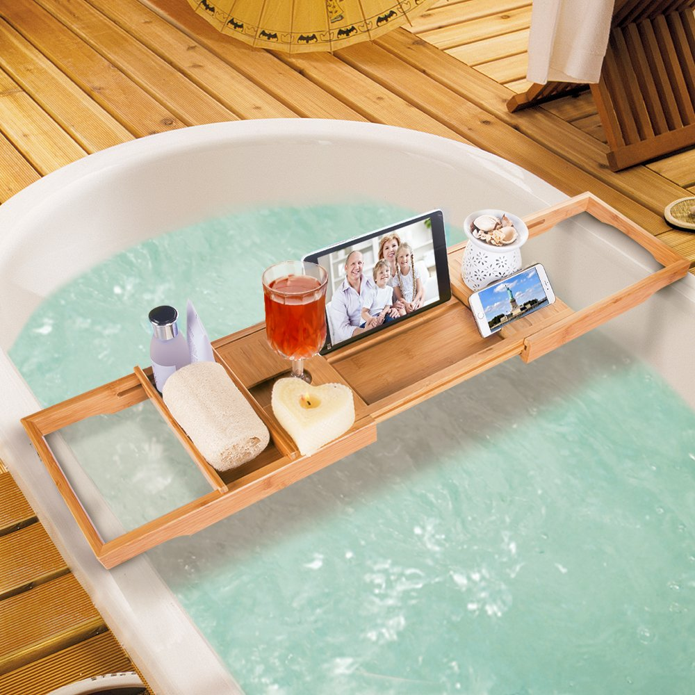 Wooden Bathtub Trays