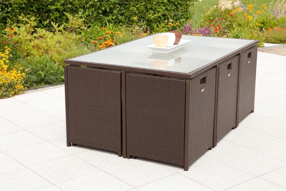 MERXX Gartenmöbel-Set Bozen 13-tgl. Gartensessel mit Rücken- und Sitzkissen, Tisch günstig kaufen
