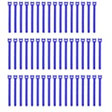 Pasow 50pcs Reusable Fastening Adjustable Cable Ties Wire Management (7 Inch, Blue) (Color: Blue, Tamaño: 7 Inch)