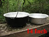 Disposable Foil Dutch Oven Liner, 12 Pack 14 8Q liners, No more Cleaning, Seasoning your Dutch ovens. Lodge, Camp Chef.