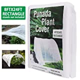 punada Premium Plant Covers Freeze Protection 8Ft x 24Ft Reusable Plant Covers for Winter Frost Freeze Protection Covers Anti-UV for Snow Animal 35ºF Frost Protection -0.74 oz/yd² (Frame not Include) (Color: 8X24FT(0.74 oz/yd2), Tamaño: 8Ft x 24Ft)