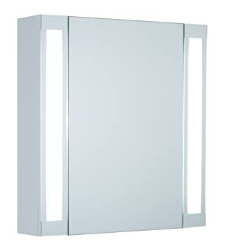 'MEBASA mybspkmdld1Cabinet with Mirror Lazzaro Due Vertical opening through high quality Ferrari, Robust Casing Hinges, Light, Pre-Assembled)