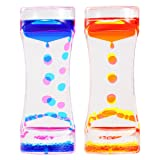 BESTOMZ 2 Pack Liquid Motion Bubbler Timer for Sensory Play, Colored Oil Hourglass Relaxation Desk Toy Fidget Toy (Color: Assorted Color, Tamaño: 2 Pack)