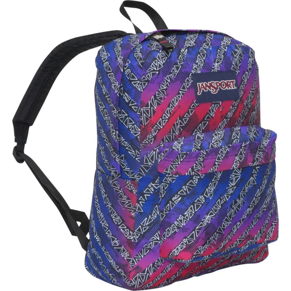 JanSport Superbreak Backpack (Black/White Torn Triangle) $30.57