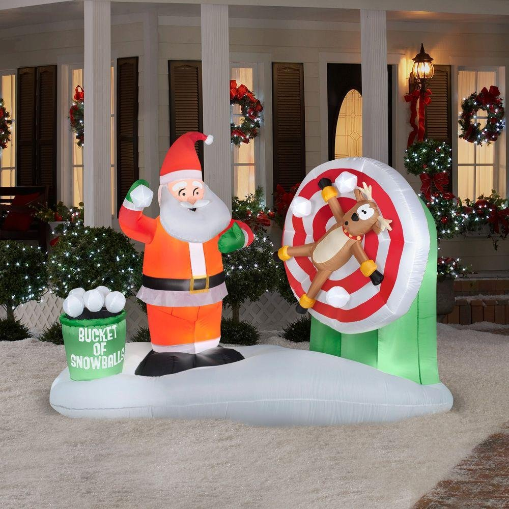 Santa Claus Lawn Decorations: Santa Claus Outdoor Inflatables Page Two