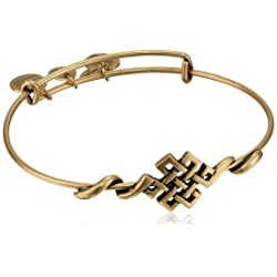 "Alex and Ani ""Spiritual Armor"" Endless Knot Expandable Wire Bangle Bracelet"