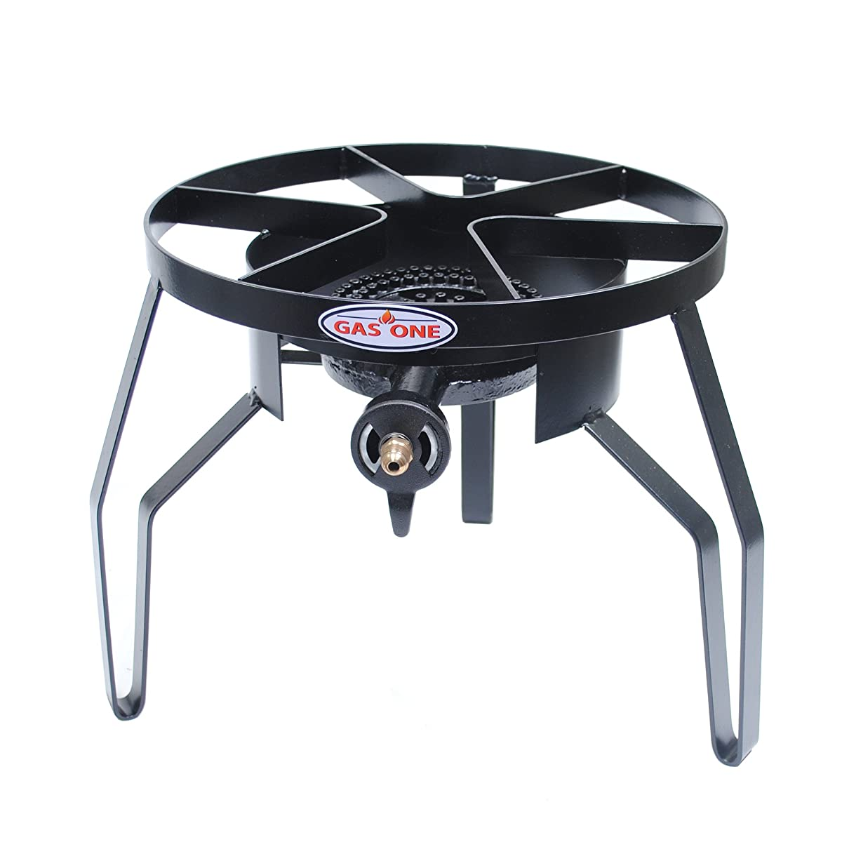 GAS ONE High-Pressure Single Burner Outdoor Stove Propane Gas Cooker with Adjustable 0-20PSI CSA Listed Regulator and Hose Perfect for Beer Brewing, outdoor cooking, emergency preparedness