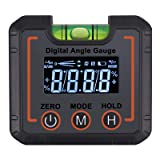 AUTOUTLET Digital Angle Finder Magnetic & Level Bubble Vial 490° Angle Gauge Inclinometer Protractor Upgraded VA LCD Display with Backlight for Saw Blade woodworking etc. (Tamaño: D)
