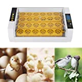 Zerone Eggs Incubator,Fully Automatic Incubator for Chicken Eggs Temperature Control Digital Automatic Chicken Chick Duck Heater