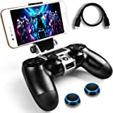 WEPIGEEK PS4 Wireless Controller Phone clip Mount Holder Stand Bracket Compatible with PlayStation Pro/Slim Dualshock 4 (Color: Black)