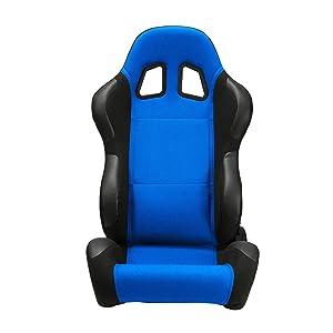 ModifyStreet 1 Pair Universal RED Pineapple Fabric//PVC Leather Racing Bucket Seats