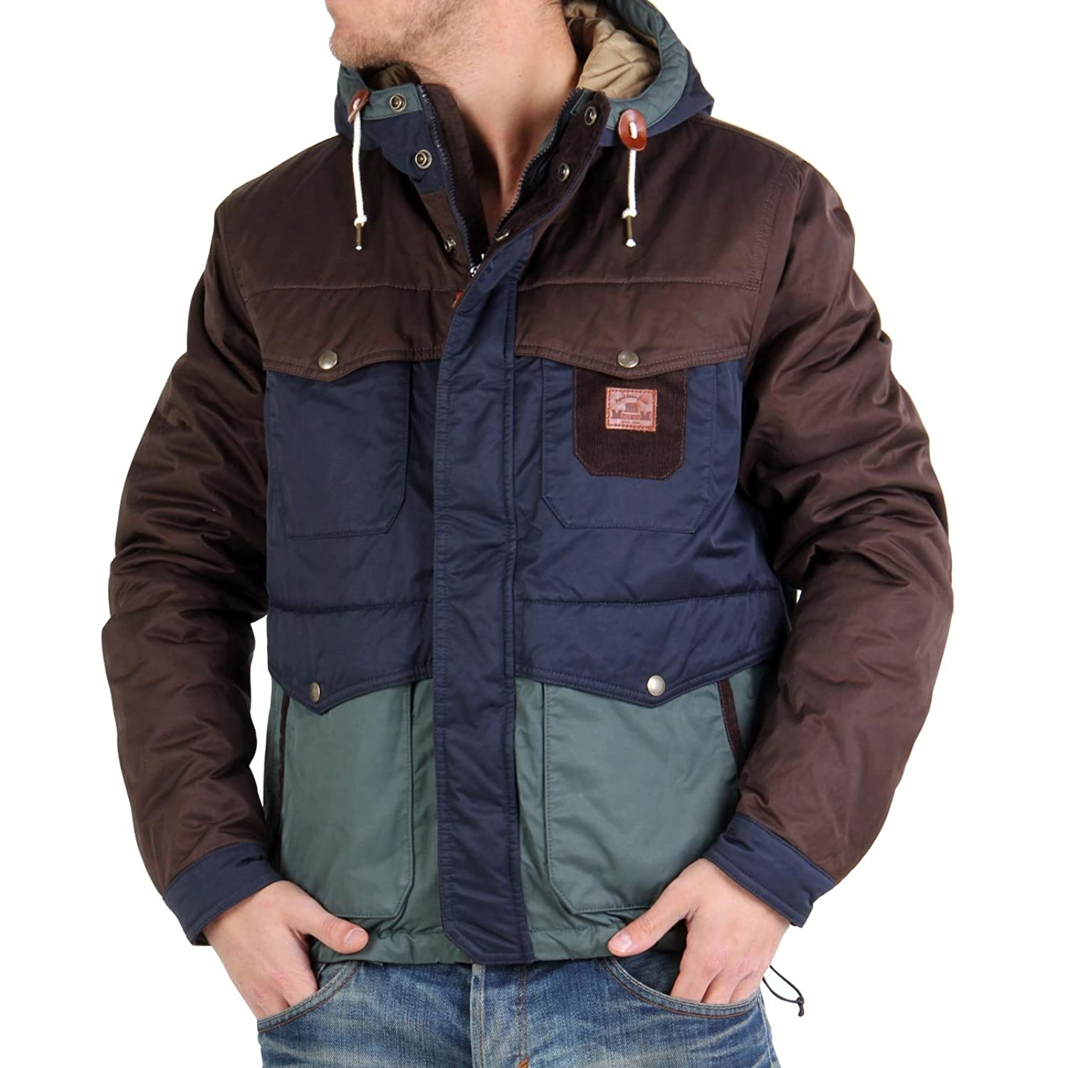 MUSEUM Herren Winter Funktionsjacke Brown Blue MU19439