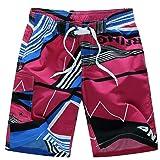 IEason Men's Shorts Swim Trunks Quick Dry Beach Surfing Running Swimming Watershort (US M), Hot Pink