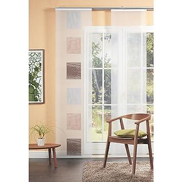 Home fashion 87982 740 panel japon s voile scherli 245 x - Paneles japoneses amazon ...