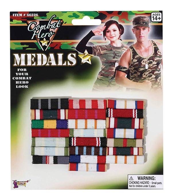 Forum Novelties Military Medal (Bars)-Standard (Color: As