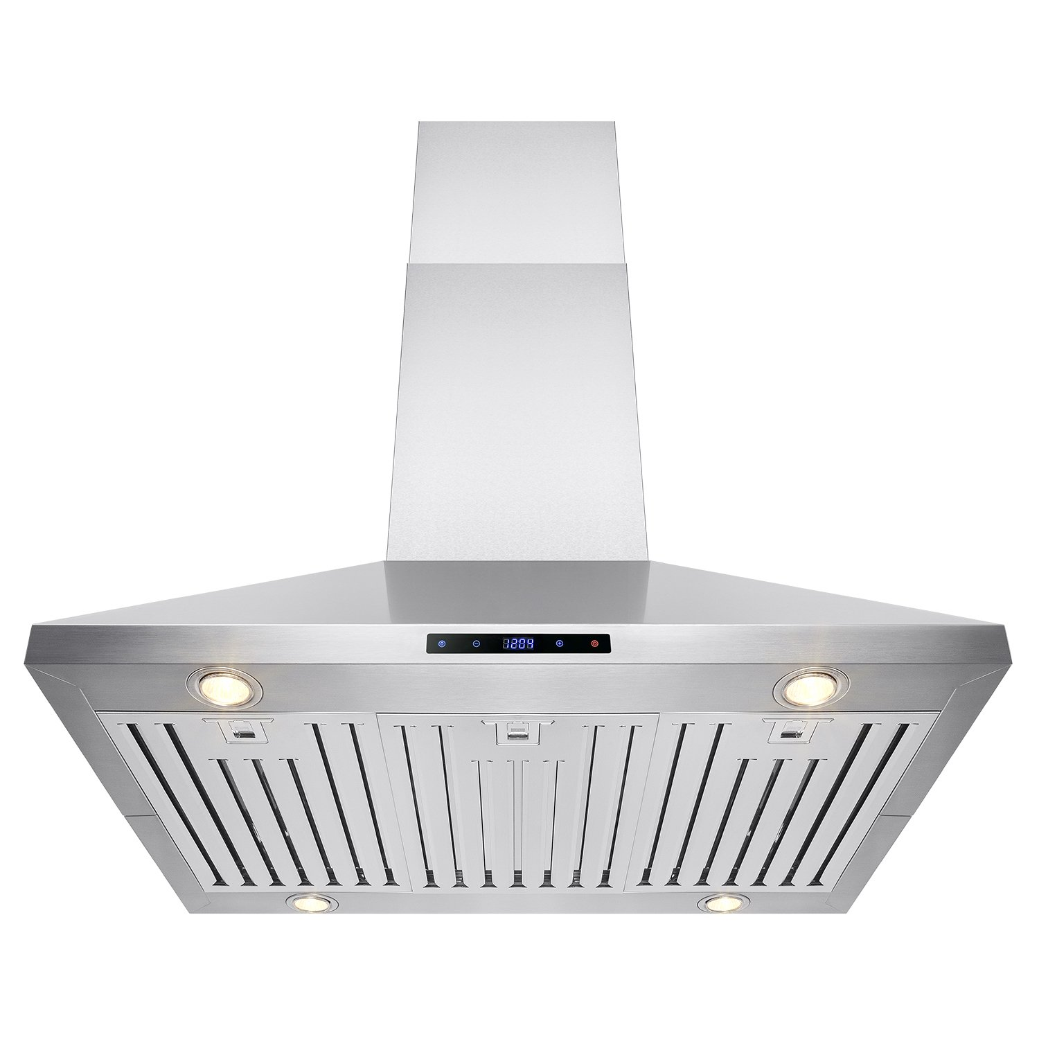 "AKDY® 36"" Island Mount Stainless Steel Kitchen Vent Ducted Range Hood LED Touch Control AZ-B03-IS-90"