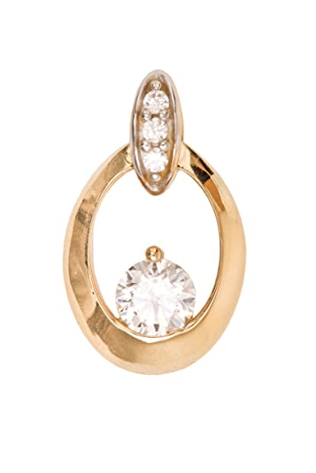 Honky Tonk V0010818 MyGold Pendant (without chain) 333 gold gemstone oval shaped, clear CZ