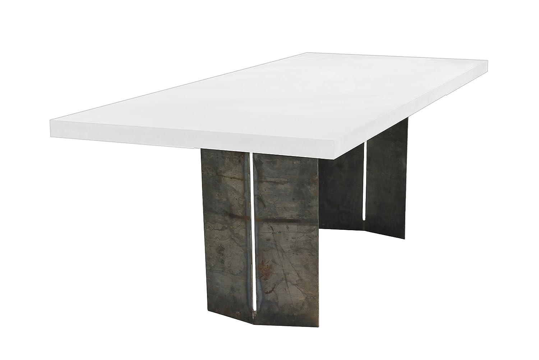 SIT-Möbel 9959-13 Tisch Cement, 220 x 100 x 76 cm, Platte leichtbeton, Gestell Metall, grau