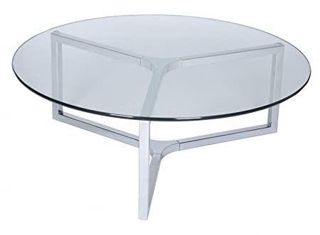arberi - Table basse AWENA Ronde en verre