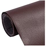 Ancefine Leather Repair Patch-Adhesive Backing-First Aid for Sofa,Car Seat,One Yard (Dark Brown) (Color: Dark Brown)