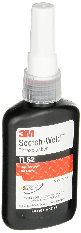 3M Scotch-Weld Threadlocker TL62 Red, 1.69 fl oz/50 mL Bottle (Pack of 1) 3m 470 16fl oz