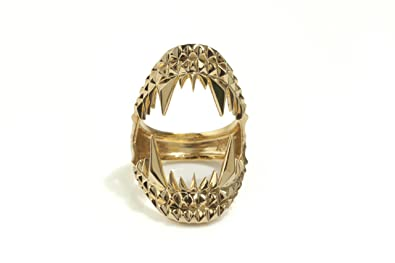 Kasun London 18ct Gold Plated Sterling Silver Vampire Bite Ring