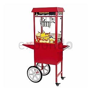 Royal Catering  RCPW16E  Popcorn Maschine mit Wagen  1600 W  8 oz  16L/h  Überprüfung und weitere Informationen