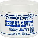 Country Comfort Herbal Savvy Comfrey Aloe Vera - 2 oz (Pack of 2)