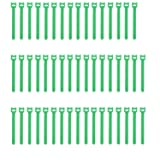 Pasow 50pcs Reusable Fastening Adjustable Cable Ties Wire Management (6 Inch, Green) (Color: Green, Tamaño: 6 Inch)