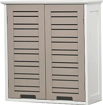 Meuble haut 2 2 portes de salle de bain esprit - Meuble haut profondeur 20 cm ...