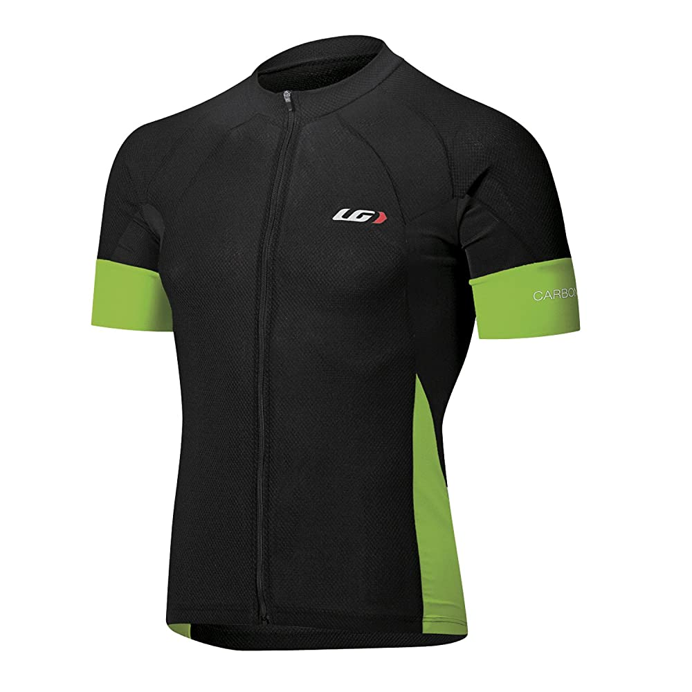 Louis Garneau Carbon Jersey - Men's Black / Green XL