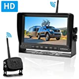 LeeKooLuu HD Digital Wireless Backup Camera 7''Monitor Highway Observation System for RVs,Travel Trailers,Trucks,Motorhome Mirror/Facing Image Flip Newest IP69K Waterproof Camera Super Night Vision (Tamaño: 7-Inch system)