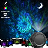 Star Projector, ECOWHO Planetarium Projector, Night Light Projector with 3-in-1 Ocean Wave Star Moon Neubla for Kids, 2000mAh 13 Modes Voice Sensor Laser Projector for Bedroom Christmas (Color: Red, Green, Blue, Tamaño: christmas light projector)