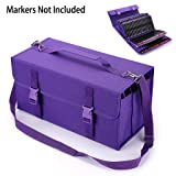 BTSKY New 171 Slots Marker Case Lipstick Organizer-Canvas Markers Holder for for Primascolor Markers and Copic Sketch Markers Purple (Color: 171 Purple)