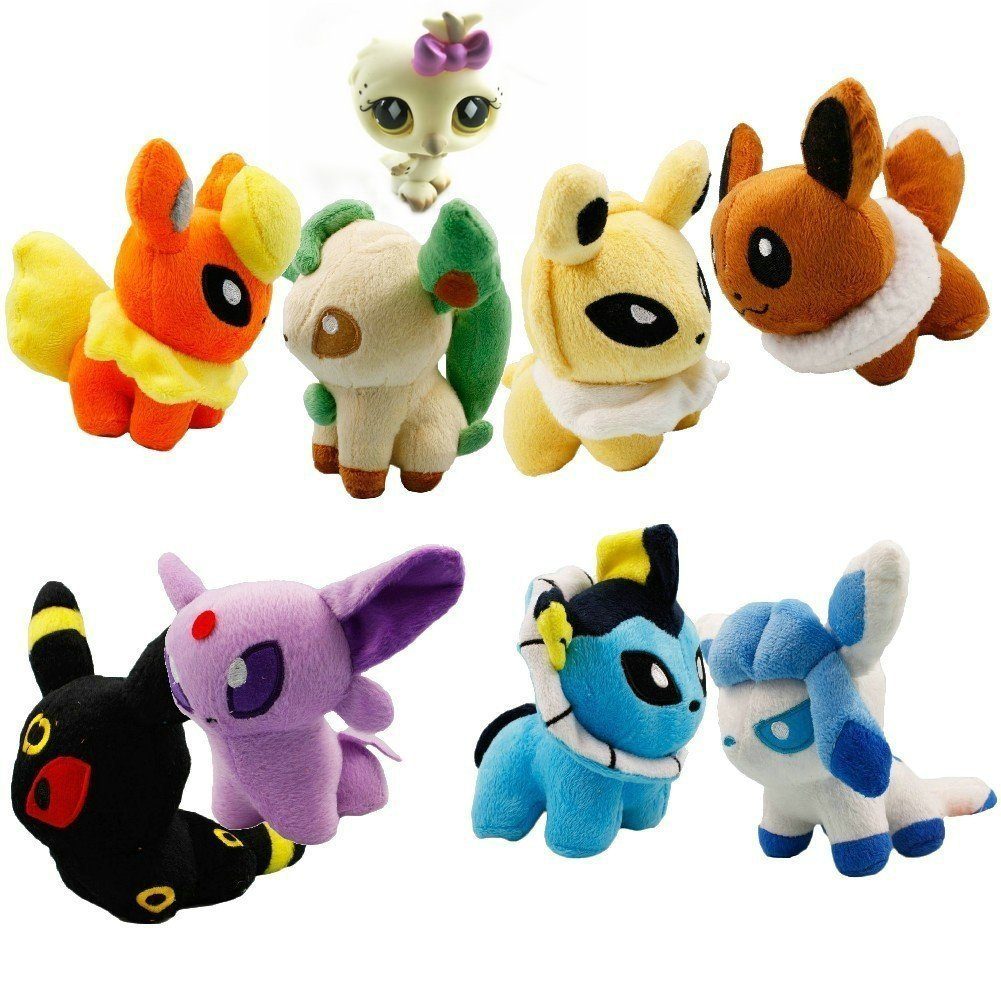 Lot of 8 pcs pokemon pokedoll plush toy soft doll set 5 collectible
