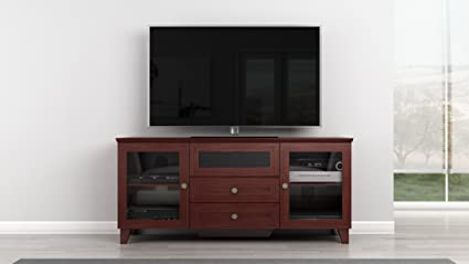 Furnitech 61 inch Shaker Console - (Dark Cherry Finish)