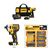 Dewalt DCD771C2 20V MAX Cordless Lithium-Ion 1/2 inch Compact Drill Driver Kit + Speed Impact Driver + Piece Screwdriving Set