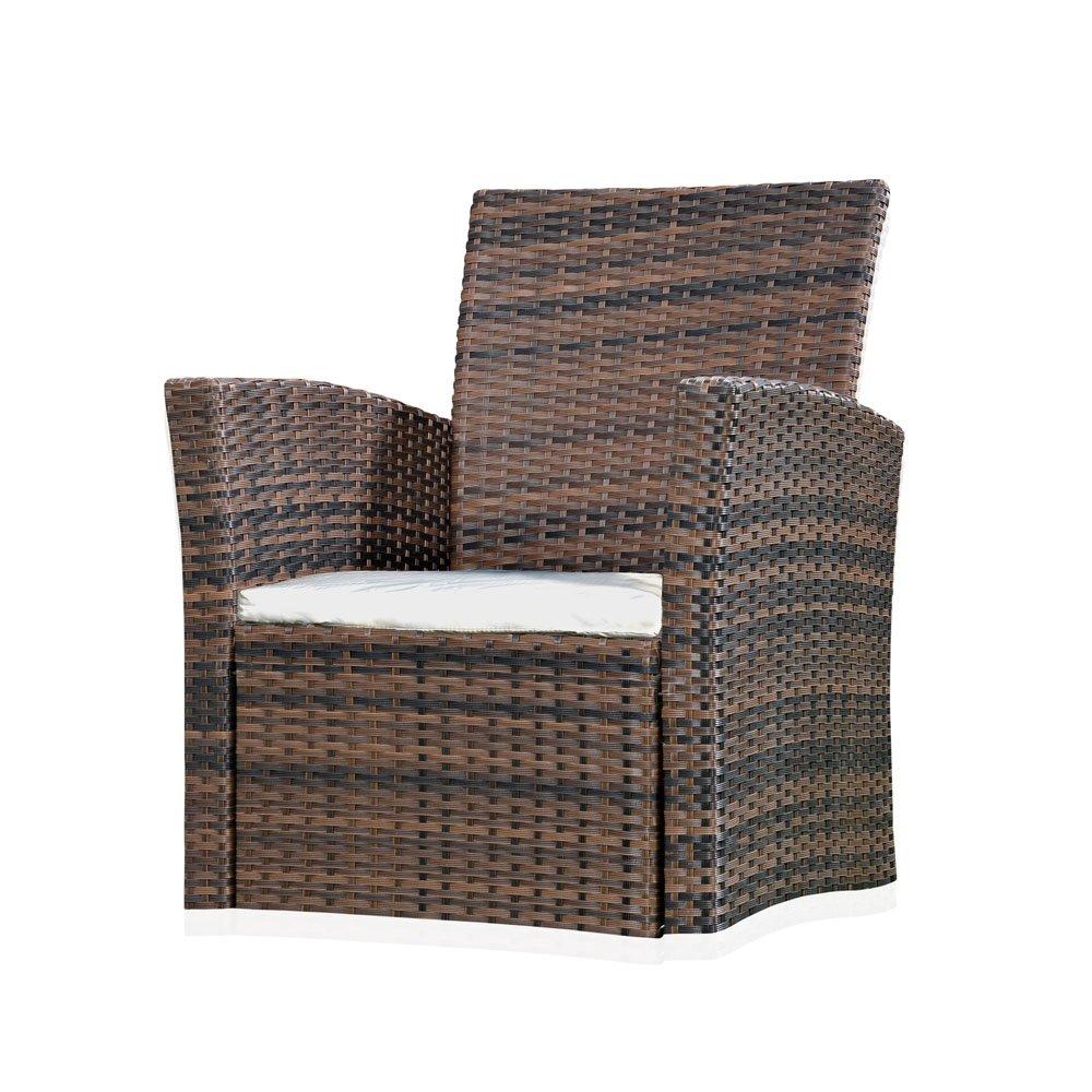 Garten Relaxsessel aus Polyrattan in Braun 65 cm x 62 cm x 78 cm (H x T x B) günstig online kaufen