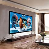 Safstar Aluminum HD Fixed Frame Projector Screen for Home Theater Office Presentation (92