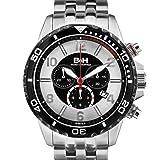 Brandt & Hoffman Pythagoras Chronograph Mens Watch - Silver/Grey Dial, Silver Bracelet
