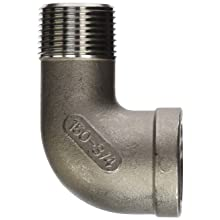 Stainless Steel 304 Cast Pipe Fitting, 90 Degree Street Elbow, Class 150, NPT Male X Female