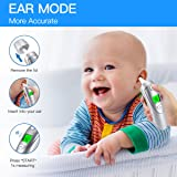 Baby Forehead and Ear Thermometer, Infrared Digital Forehead Thermometer Medical Digital Thermometer for Fever Thermometers for Baby, Kids and Adult | CE and FDA Approved Clinical Thermometer (Sliver) (Color: Sliver)